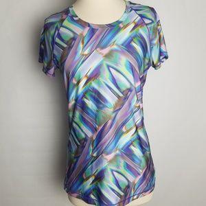 Under Armour womens heatgear sonic printed shirt S